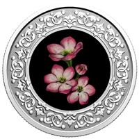 2020 $3 Floral Emblems of Canada - Nova Scotia: Mayflower -  Pure Silver Coin
