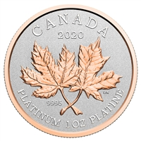 2020 $300 Maple Leaf Forever - Pure Platinum Coin