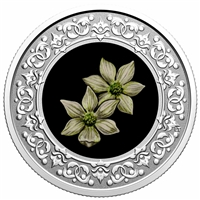 2020 $3 Floral Emblems of Canada - British Columbia: Pacific Dogwood -  Pure Silver Coin
