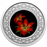 2020 $3 Floral Emblems of Canada - Saskatchewan: Western Red Lily -  Pure Silver Coin