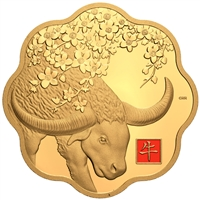 2021 $2500 Year of the Ox - Pure Gold Coin