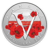 2020 $5 Moments To Hold: Remembrance Day - Pure Silver Coin