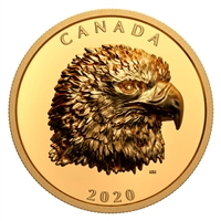 2020 $250 Proud Bald Eagle - Pure Gold Coin