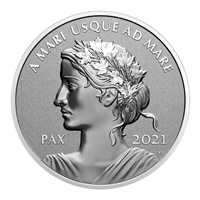 2021 $1 Peace Dollar - Pure Silver Coin