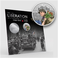 2020 $10 75th Anniversary of The Liberation of the Netherlands: Canadian Army - Pure Silver Coin
