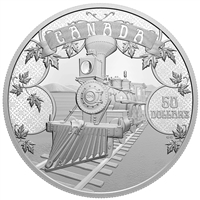 2021 $50 The First 100 Years of Confederation: An Emerging Country - Fine Silver Coin