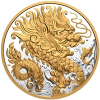 2021 $125 Triumphant Dragon - Pure Silver Coin