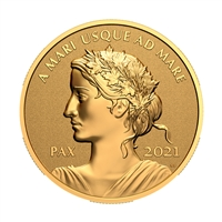 2021 $200 Peace Dollar - Pure Gold Coin