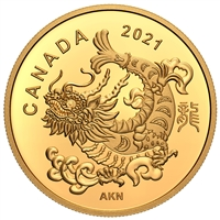 2021 $8 Triumphant Dragon - Pure Gold Coin