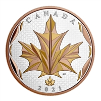 2021 $50 Maple Leaves in Motion - Pure Silver Coin