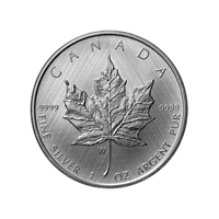2021 $5 Silver Maple Leaf: W Mint Mark - Pure Silver Coin