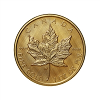 2021 $50 Gold Maple Leaf: W Mint Mark - Pure Gold Coin