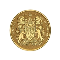 2021 $20 100th Anniversary of Canada's Coat of Arms - Pure Gold Coin