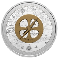 2021 $50 Lost Then Found: Champlain and the Astrolabe - Pure Silver Coin