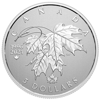 2021 $5 Moments to Hold: 25th Anniversary of Canada's Arboreal Emblem - Pure Silver Coin