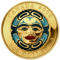 2008 $300 Four Seasons Moon Mask - Gold Coin