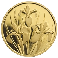 2006 $350 Iris Versicolor (Quebec) - Pure Gold Coin