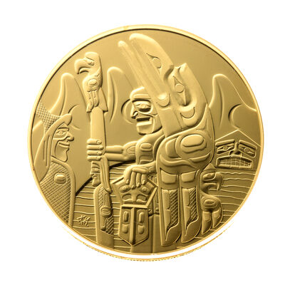 2005 $300  Welcome Figure Totem Pole - 14-kt Gold Coin