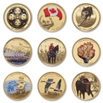 Vancouver 2010 Olympic Games 14k Gold Coin Collection