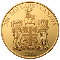 2008 $300 Newfoundland: Provincial Coat of Arms