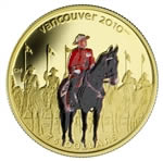$75 2007 14-Karat Gold Coin - Vancouver 2010 Olympic Winter Games - Royal Canadian Mounted Police