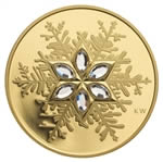 $300 2006 Gold Coin - Crystal Snowflake