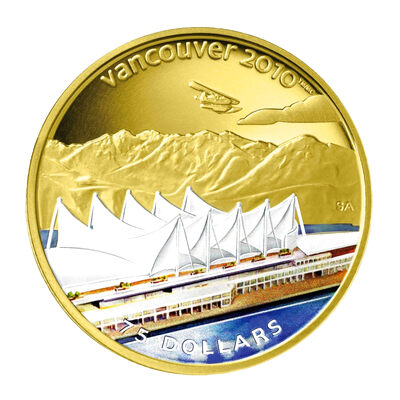 $75 2008 14-Karat Gold Coin - Vancouver 2010 Olympic Winter Games - Home of the 2010 Olympic Winter Games