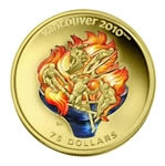 $75 2009 14-Karat Gold Coin - Vancouver 2010 Olympic Winter Games - Olympic Spirit