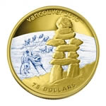 $75 2008 14-Karat Gold Coin - Vancouver 2010 Olympic Winter Games - Inukshuk