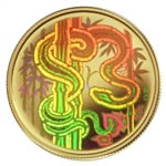 $150 2001 Gold Hologram Coin - Year of the Snake