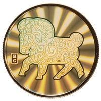 2003 $150 Year of the Sheep - 18kt. Gold Hologram Coin