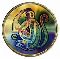 $150 2004 Gold Hologram Coin - Year of the Monkey