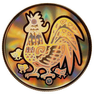 2005 $150 Year of the Rooster - 18-kt. Hologram Coin