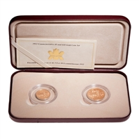 1912-2002 Commemorative $5 and $10 Gold Coin Set