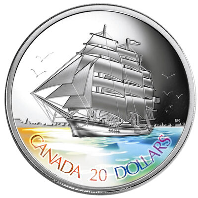 $20 2005 Silver Coin - Three-Masted Ship