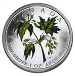 $5 2003 Coloured Maple Leaf - Summer