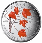 $5 2004 Coloured Maple Leaf - Winter