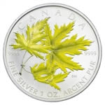 $5 2006 Coloured Silver Maple Leaf - Sugar Maple