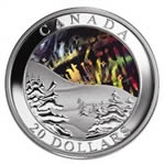 $20 2004 Silver Coin - Northern Lights