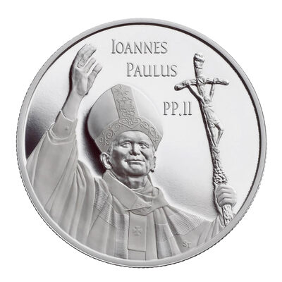 $10 2005 Silver Coin - Commemorating the Visit of Pope John Paul II to Canada
