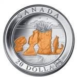 $20 2004 Silver Coin - Hopewell Rocks