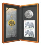 $8 2004 Silver Coin - Great Grizzly Coin & Stamp Set
