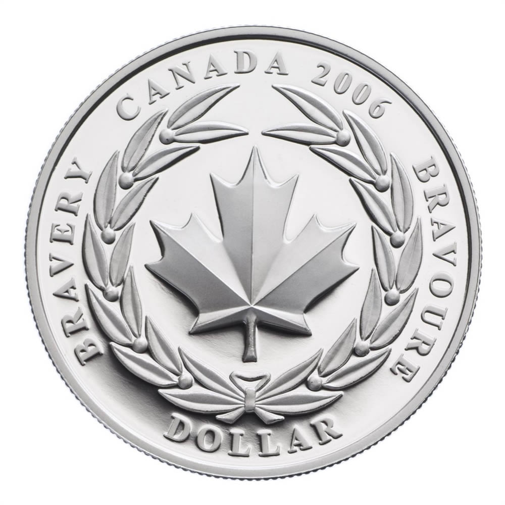 1 2006 Special Edition Silver Proof Coin Medal Of Bravery Royal Canadian Mint Coins