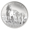 2006 $5 Canada's Wildlife: Sable Island Horse and Foal - Pure Silver Coin & Stamp Set