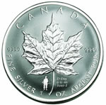 2004 $5 1 oz Silver Maple Leaf D-Day Coin