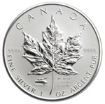 2005 $5 1 oz. Silver Maple Leaf V-E Day