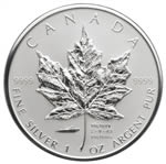 $5 2005 1 oz Silver Maple Leaf - Privy Mark V-J Day