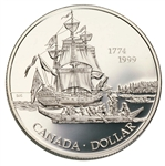$1 1999 Proof Silver Coin - 225th Anniversary of the Voyage of Juan Perez