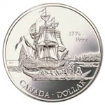 $1 1999 Brilliant Uncirculated Silver Coin - 225th Anniversary of the Voyage of Juan Perez