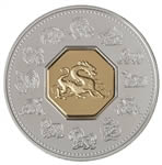 $15 2000 Silver Coin - Year of the Dragon